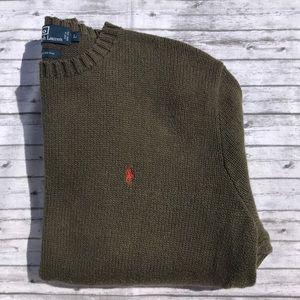 Men's Polo Ralph Lauren Brown Sweater Sz L